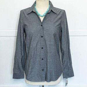 Izod | NWT - Black/Gray Button Down Shirt